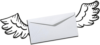 illustrated icon of envelope