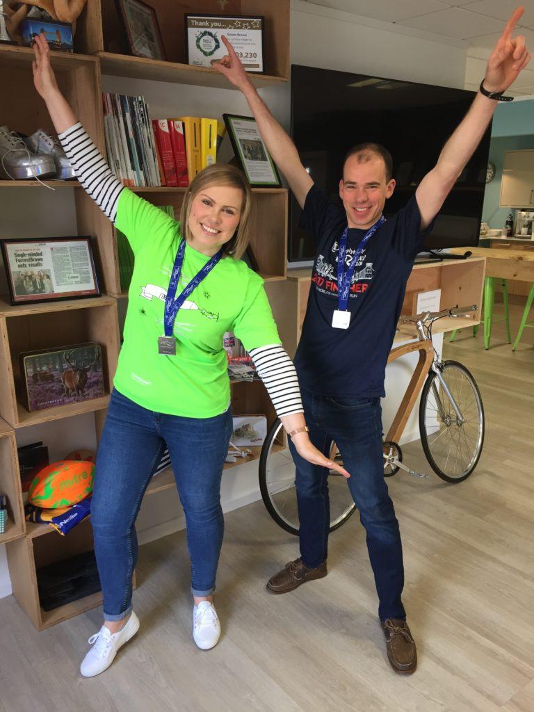ForrestBrown 10k winners - Jen Eastman and Stephen Jones
