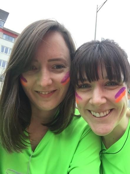 Bristol 10k - Sara Brigden and Jenny Tragner