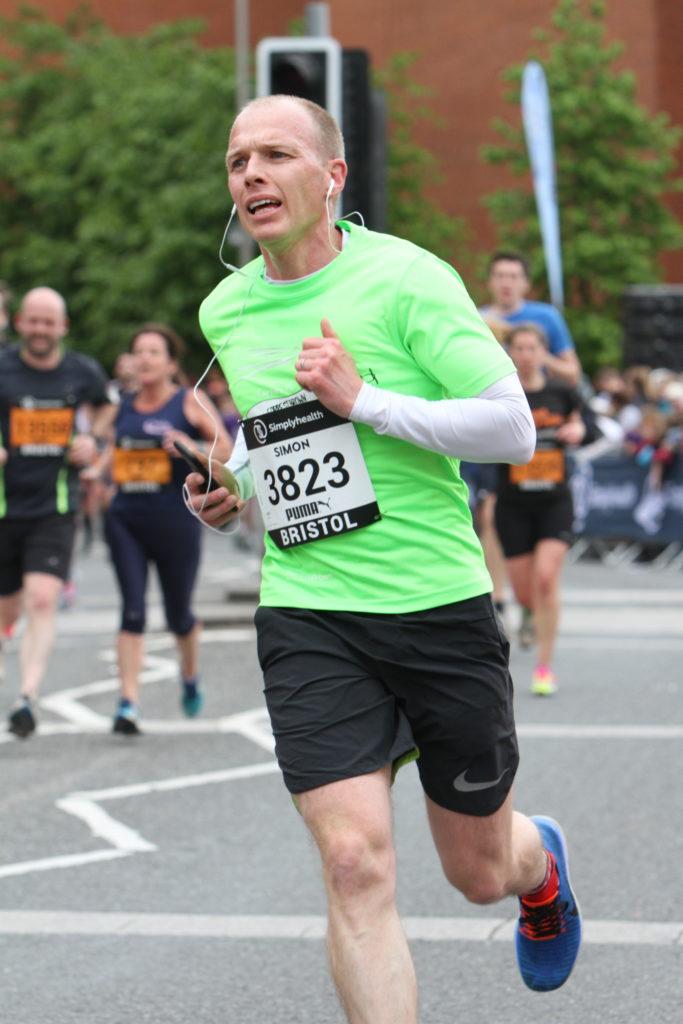 ForrestBrown MD, Simon FF Brown, running the Bristol 10k