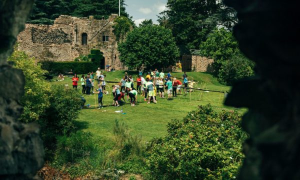 ForrestBrown team building at Usk Castle in Wales