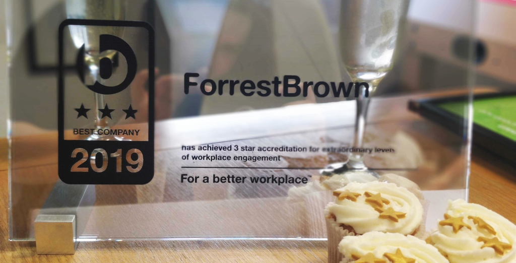ForrestBrown Sunday Times Best Companies Award 2019