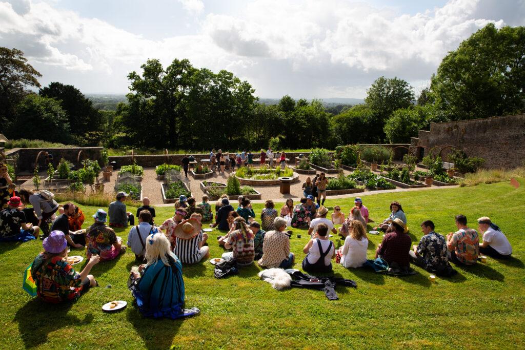 Belmont estate terraced garden view